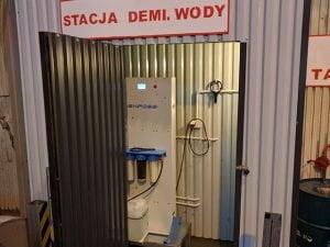 Produkcja wody demineralizowanej na potrzeby wytwarzania emulsji chłodzących