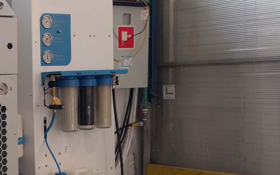 Produkcja wody demineralizowanej do nawilżania 200 l/h