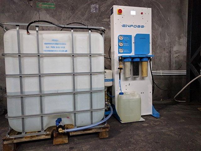 Produkcja wody destylowanej do odpylania przesypów taśmowych